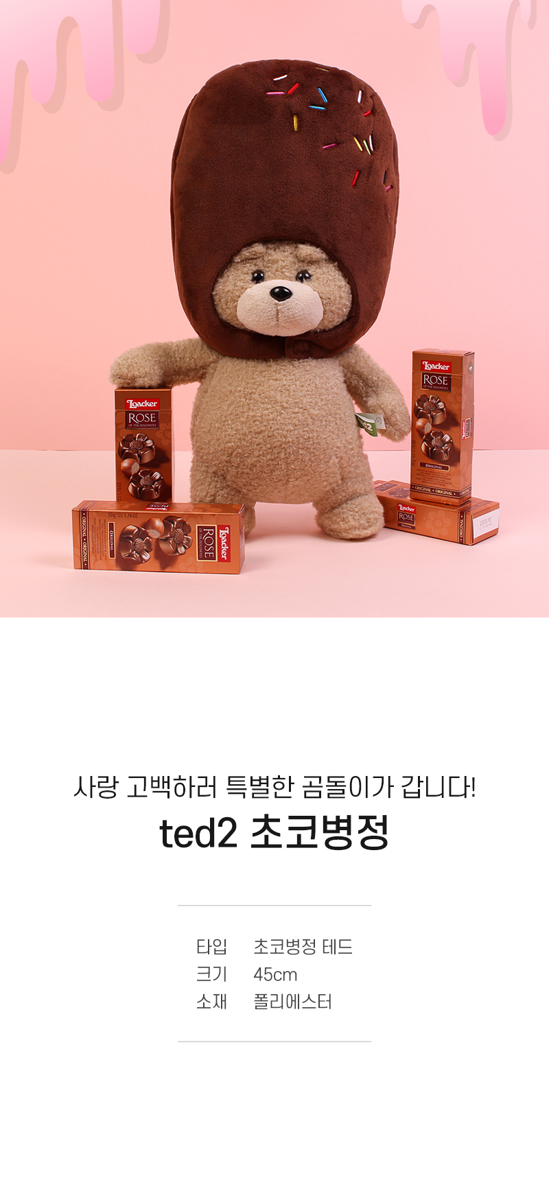 달달한 초코병정테드 + 로아커 로즈 초콜릿 - (주) 이젠크리에이션, 25,000원, 애니멀인형, 곰 인형